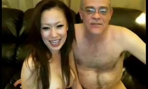 Old Man and Chinese Comprehensive on Webcam