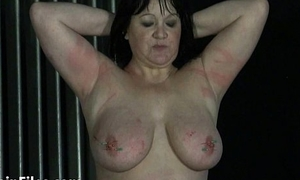 Needles surrounding nipples and bbw bdsm for mature private slave girl China suffering
