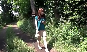 Busty Asian hiker gets bound and fucked to a creampie