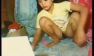 Cute Asian Girl With A Bush
