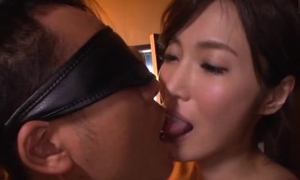 Asian minx rubs her pussy while sucking boyfriend's cock